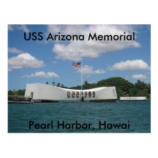 USS Arizona Memorial, Pearl Harbour, Hawai Postcard