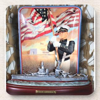 USS Arizona Tribute Coaster