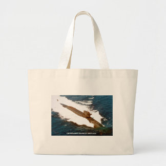 USS BENJAMIN FRANKLIN LARGE TOTE BAG