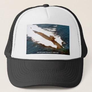 USS BENJAMIN FRANKLIN TRUCKER HAT
