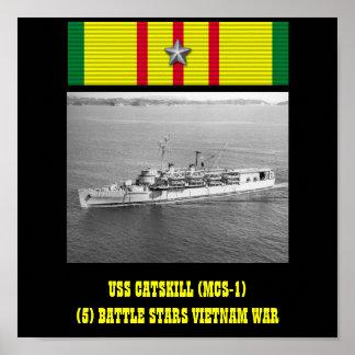 USS CATSKILL MCS-1 POSTER
