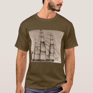 USS Columbus Sailplan T-Shirt