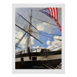 USS Constellation Tall Ship Baltimore Harbour Poster