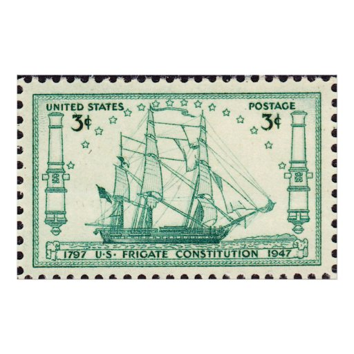 USS Constitution 150th Anniversary Stamp 1947 Larg Print
