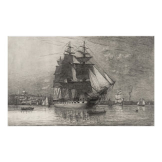 USS Constitution 1911 Poster