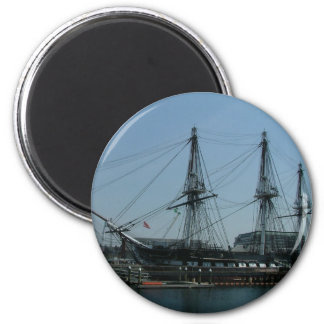 USS Constitution 6 Cm Round Magnet
