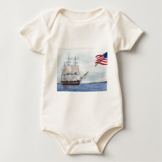 USS Constitution Baby Bodysuit