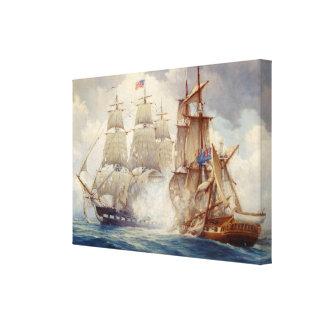 USS Constitution Defeats H.M. Frigate Java Canvas