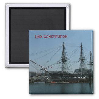 USS Constitution Square Magnet