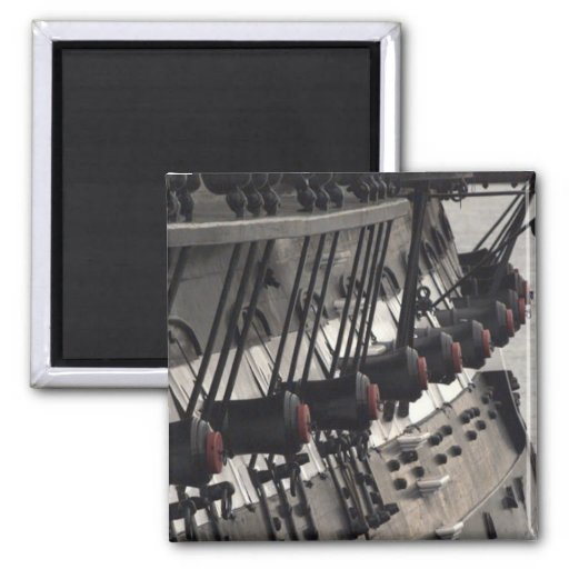 USS Constitution Starboard Cannons Refrigerator Magnets