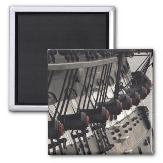 USS Constitution Starboard Cannons Square Magnet