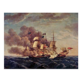 USS Constitution vs HMS Guerriere Postcard