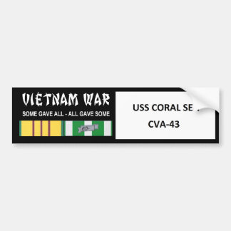 USS CORAL SEA VIETNAM WAR VETERAN BUMPER STICKER