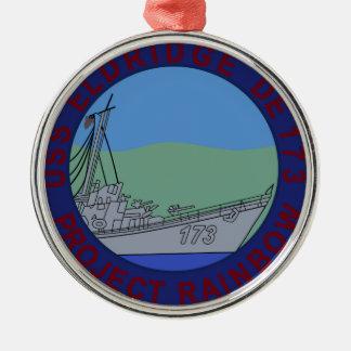 USS ELDRIDGE PROJECT RAINBOW PHILADELPHIA EXPERent Metal Ornament