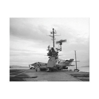 USS Hancock CVA-19 F3-B Demon Fighter Black Lion Canvas Print