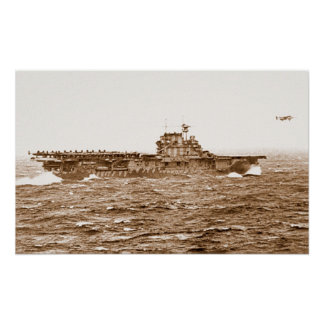 USS Hornet B-25 takeoff poster