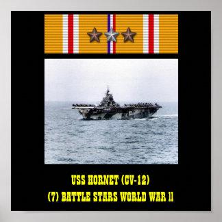 USS HORNET (CV-12) POSTER