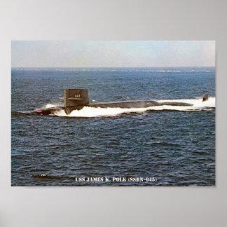 USS JAMES K. POLK POSTER