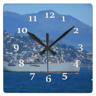 USS Jeremiah O'Brien Square Wall Clock