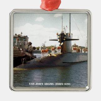 USS JOHN ADAMS METAL ORNAMENT