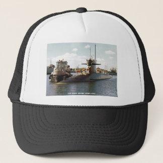 USS JOHN ADAMS TRUCKER HAT