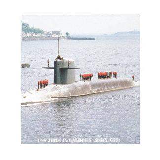 USS JOHN C. CALHOUN NOTEPAD