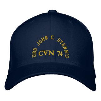 USS JOHN C. STENNIS, CVN 74, EMBROIDERED HAT