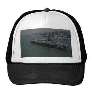 "USS John F. Kennedy"", entering New York's Hudson R Cap"