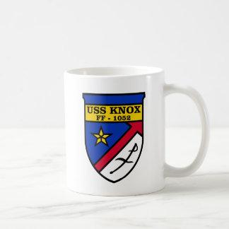 USS Knox FF-1052 Basic White Mug