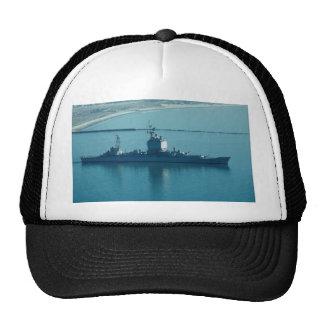 "USS Long Beach"", CGN-9 nuclear powered cruiser, le Hat"