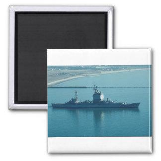 "USS Long Beach"", CGN-9 nuclear powered cruiser, le Refrigerator Magnet"
