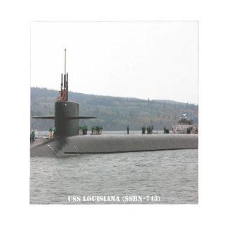 USS LOUISIANA NOTEPAD