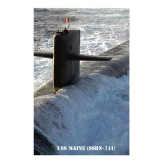 USS MAINE STATIONERY