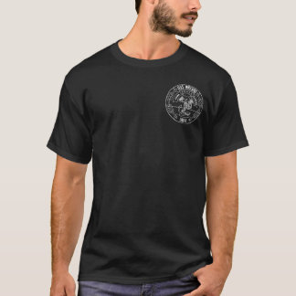 USS Nassau White Outline Original Crest Basic Dark T-Shirt