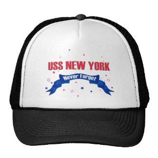USS New York Never Forget Mesh Hat