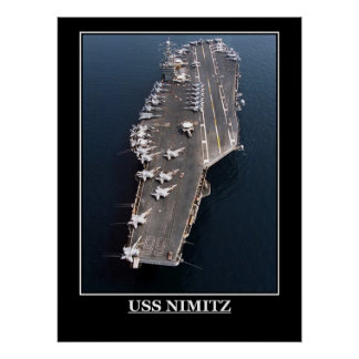 USS Nimitz Military Ships Planes emblems Poster