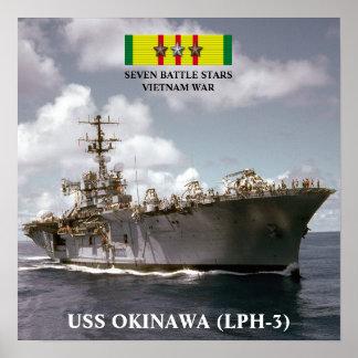 USS OKINAWA LPH-3 POSTER