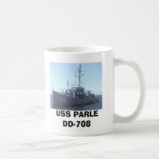 USS PARLE DD708 COFFEE MUG