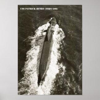 USS PATRICK HENRY POSTER