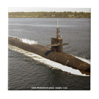 USS PENNSYLVANIA CERAMIC TILE