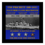 USS Prichett (DD-561) Posters