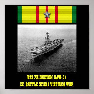 USS PRINCETON LPH-5 POSTER