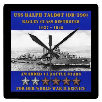 USS Ralph Talbot (DD-390) Wallclocks