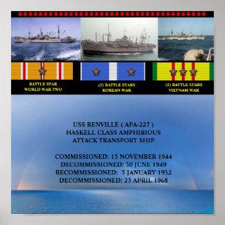 USS RENVILLE ( APA-227 ) POSTER