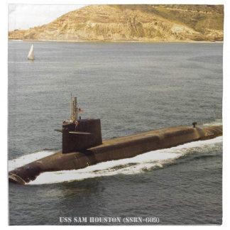 USS SAM HOUSTON NAPKIN