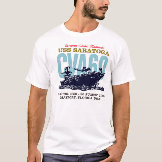 USS Saratoga CVA60 Men's White T-Shirt