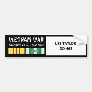 USS TAYLOR VIETNAM WAR VETERAN BUMPER STICKER