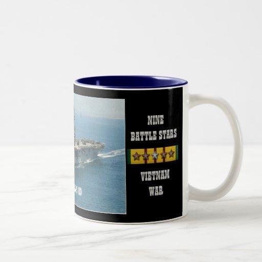USS TRIPOLI (LPH-10) COFFEE MUGS