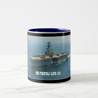 USS TRIPOLI LPH-10 COFFEE MUGS