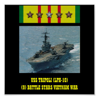 USS TRIPOLI LPH-10 POSTER